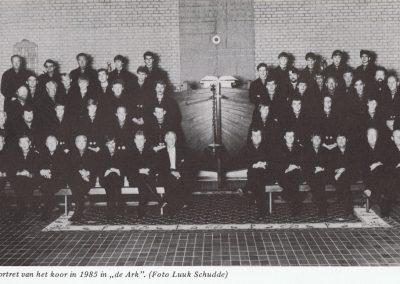 Galaportret van het koor uit 1985, gemaakt in de Hervormde kerk De Ark (thans Moriakerk).